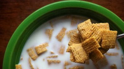 Puppy chow is made with Chex cereal.